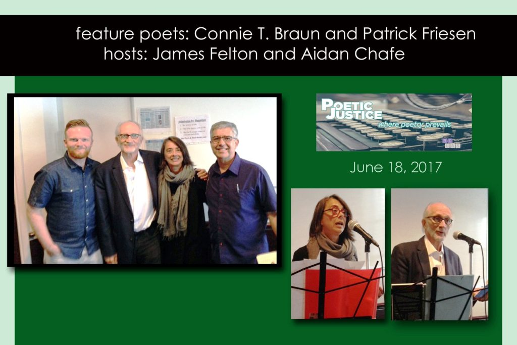 Poetry reading at Poetic Justice in June, 2017