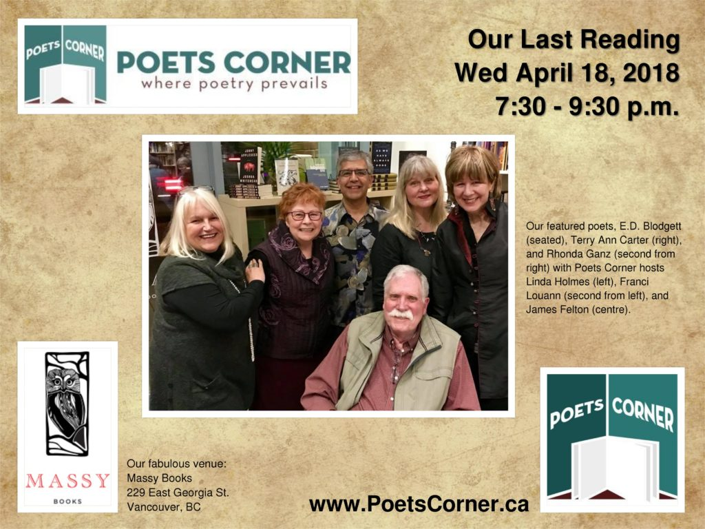 Group Photo of Featured Poets at Poets Corner