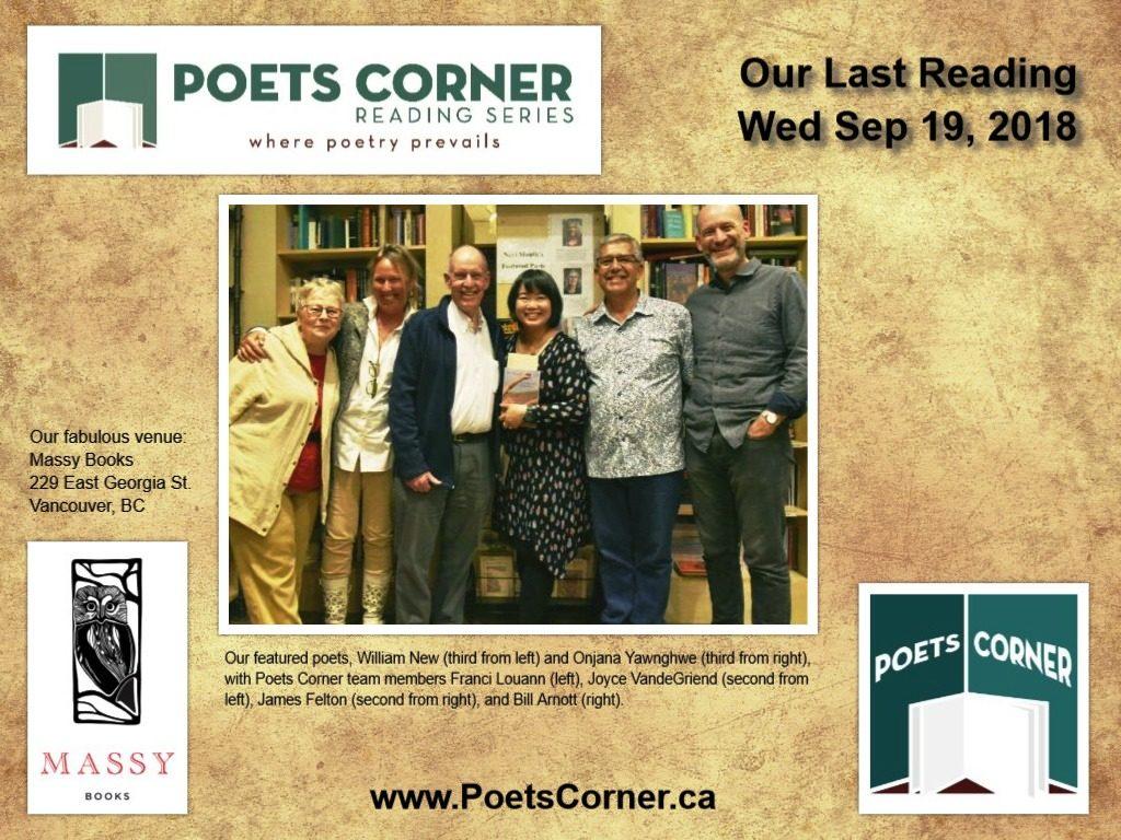 Photo of Featured Poets William New and Onjana Yawnghwe